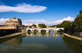 Saint angelo bridge rome italy Royalty Free Stock Photography