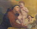 Saint Anthony of Padua in the Cathedral of Trento Royalty Free Stock Photo