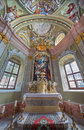 Saint anton chapel of saint anton palace with the frescoes by anton schmidt from years slovakia february Royalty Free Stock Images