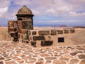 Saint barbara s castle in lanzarote the castillo de santa teguise canary islands Stock Image