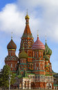 Saint basil the blessed cathedral view from kremlin quay Royalty Free Stock Photos