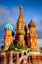 Saint Basil Cathedral in Moscow Stock Images