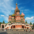Saint basil cathedral on the red square in moscow russia pokr tourists visiting st s july st s is a famous monument of russian Stock Photo