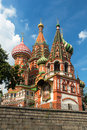 Saint basil cathedral on the red square in moscow russia pokrovsky Stock Photography