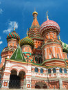 Saint basil cathedral on the red square in moscow russia pokrovsky Stock Photos