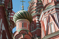 Saint Basil Cathedral and Vasilevsky Descent of Red Square in Moscow Kremlin, Russia Royalty Free Stock Photo