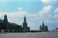 Saint basil s cathedral and kremlin in moscow soviet union Royalty Free Stock Images