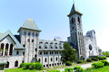 Saint benedict abbey in an in benoit du lac quebec canada and was founded in by the exiled fontenelle of st Stock Photography