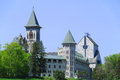 Saint benedict abbey in an in benoit du lac quebec canada and was founded in by the exiled fontenelle of st Royalty Free Stock Image