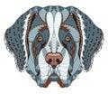 Saint bernard dog zentangle stylized head freehand pencil hand drawn pattern zen art ornate vector coloring print for coloring Stock Photos