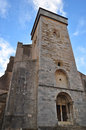 Saint bertrand de comminges facade view of the of cathedral Royalty Free Stock Image