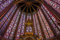 Saint Chapelle stained windows glass Royalty Free Stock Photo