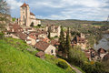 Saint cirq lapopie france voted one of the most beautiful villages of st overlooks the lot river and is one of the most popular Stock Photography