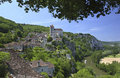 Saint Cirq Lapopie - Lot - France Stock Images