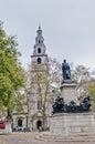 Saint clement danes church at london england facade Royalty Free Stock Photo