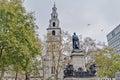 Saint clement danes church at london england facade Stock Photos