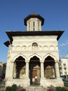 Saint elefterie old church located on street in bucharest romania in a sunny summer day Royalty Free Stock Photography