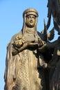 Saint elena in krasnodar church sculpture of work of russian architector russia Royalty Free Stock Photos