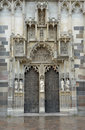 Saint elisabeth cathedral portal the st is a gothic in kosice slovakia close up of embossed stone Royalty Free Stock Images