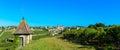 Saint emilion vineyard landscape france south west of Stock Image