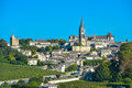 Saint emilion vineyard landscape france south west of Royalty Free Stock Photos