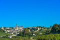 Saint emilion vineyard landscape france south west of Stock Photos
