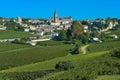 Saint emilion vineyard landscape france south west of Stock Photos