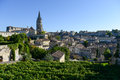 Saint emilion vineyard landscape france south west of bordeaux Stock Images
