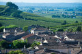 Saint emilion vineyard landscape vineyard south west of france bordeaux Stock Photography
