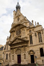Saint Etienne church in Paris Royalty Free Stock Photos