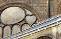 Saint-Eustache church heart Royalty Free Stock Photo