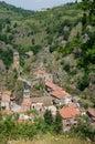 Saint floret france historical village in auvergne Stock Photo