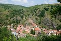 Saint floret france historical village in auvergne Stock Images