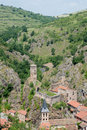 Saint floret historical village in auvergne france Stock Images
