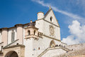 Saint francis basilica assisi italy october the white of san francesco in the town of in the umbria region of with visitors Royalty Free Stock Photos