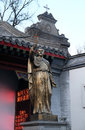 Saint Francis Xavier statue in front Saint Joseph Cathedral in Beijing Royalty Free Stock Photo