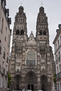 Saint gatien cathedral in tours france Royalty Free Stock Photo