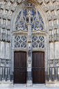 Saint gatien doorway Royalty Free Stock Photography