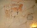 Saint George fresco in church in Goreme, Cappadocia