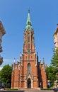 Saint Gertrude Old Church (1866) in Riga, Latvia Royalty Free Stock Photo