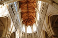 Saint gervais church of falaise in normandie france the Royalty Free Stock Images