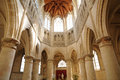 Saint gervais church of falaise in normandie france the Royalty Free Stock Photos