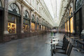 Saint hubert royal galleries in brussels the de la reine with a meters long glass roof at a height of meters since a Stock Photography