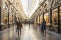 Saint-Hubert royal gallery in Brussels Royalty Free Stock Photo