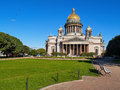 Saint isaac cathedral in saint petersburg isaakievskiy sobor russia Stock Images