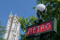 Saint Jacques Tower and Metro Paris France Royalty Free Stock Photo