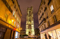 Saint Jacques Tower in Paris Royalty Free Stock Photo