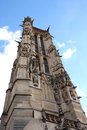 Saint jacques tower paris tour is a monument located in france flamboyant gothic is all that remains of the Royalty Free Stock Photo