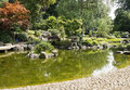 Saint james park london england landscape with pond in Royalty Free Stock Photo