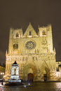 Saint jean baptiste cathedral lyon france Royalty Free Stock Photo
